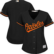 Majestic Women's Replica Baltimore Orioles Cool Base Alternate Black Jersey
