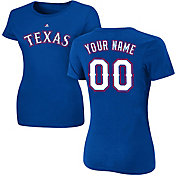 Majestic Women's Custom Texas Rangers Royal T-Shirt