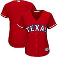 Majestic Women's Replica Texas Rangers Cool Base Alternate Red Jersey
