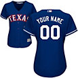 Majestic Women's Custom Cool Base Replica Texas Rangers Alternate Royal Jersey