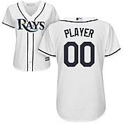 Majestic Women's Full Roster Cool Base Replica Tampa Bay Rays Home White Jersey