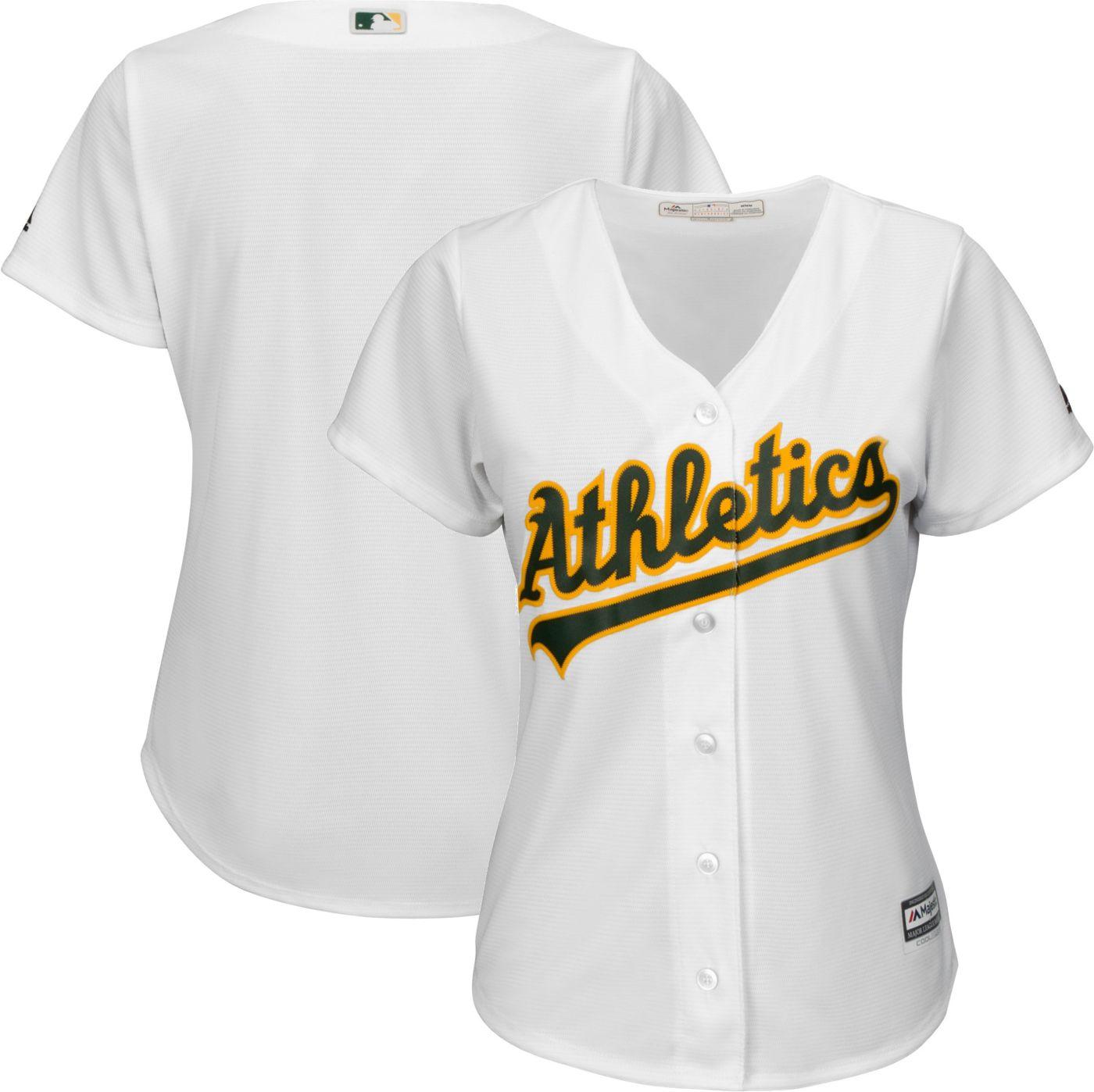 Majestic Women's Replica Oakland Athletics Cool Base Home White Jersey