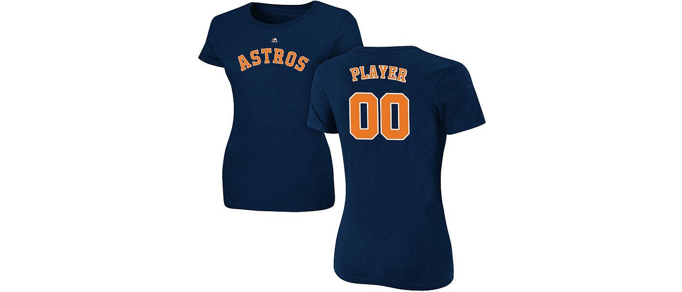 Majestic Women's Full Roster Houston Astros Navy T-Shirt