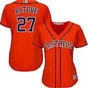 Majestic Women's Replica Houston Astros Jose Altuve #27 Cool Base Alternate Orange Jersey