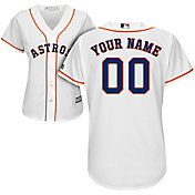Majestic Women's Custom Cool Base Replica Houston Astros Home White Jersey