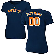 Majestic Women's Custom Houston Astros Navy T-Shirt