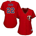 Majestic Women's Replica Minnesota Twins Miguel Sano #22 Cool Base Alternate Red Jersey