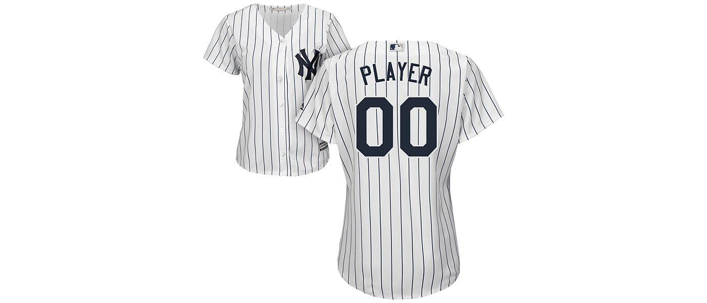 Majestic Women's Full Roster Cool Base Replica New York Yankees Home White Jersey