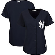 Majestic Women's Replica New York Yankees Cool Base Alternate Navy Jersey