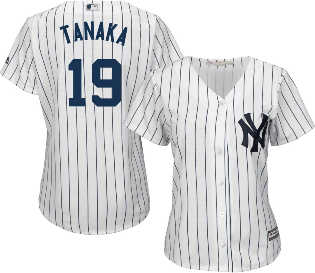 sneakers for cheap ff941 29573 Majestic Women's Replica New York Yankees Masahiro Tanaka #19 Cool Base  Home White Jersey