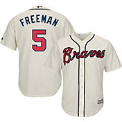 Majestic Youth Replica Atlanta Braves Freddie Freeman #5 Cool Base Alternate Ivory Jersey