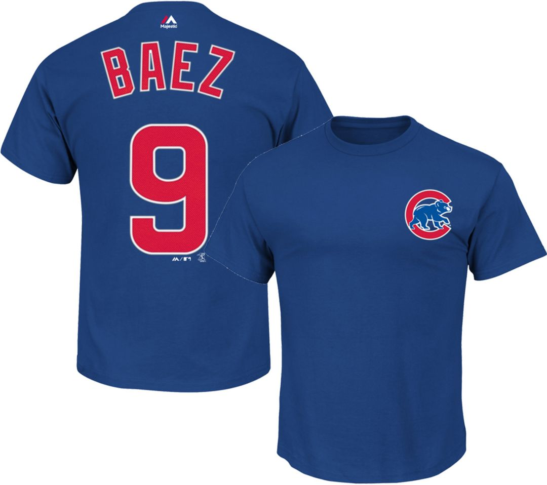 newest 7cb04 80b57 Majestic Youth Chicago Cubs Javier Baez #9 Royal T-Shirt