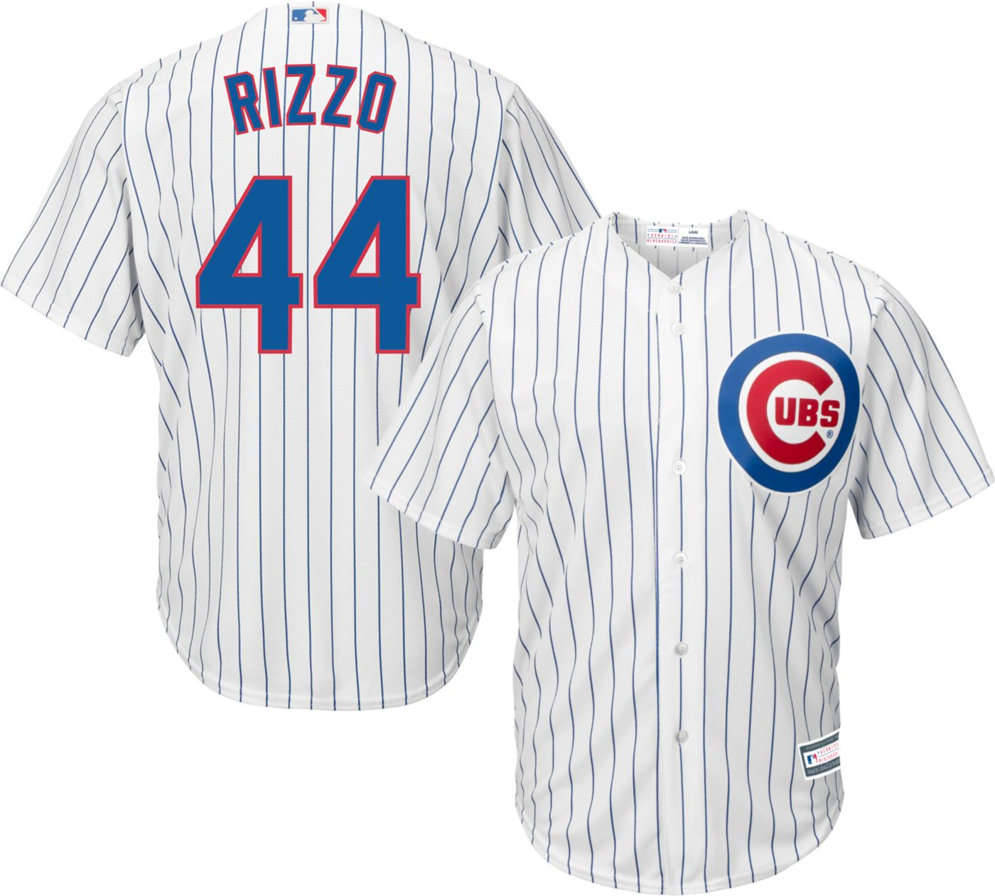 Youth Replica Chicago Cubs Anthony Rizzo #44 Home White Jersey
