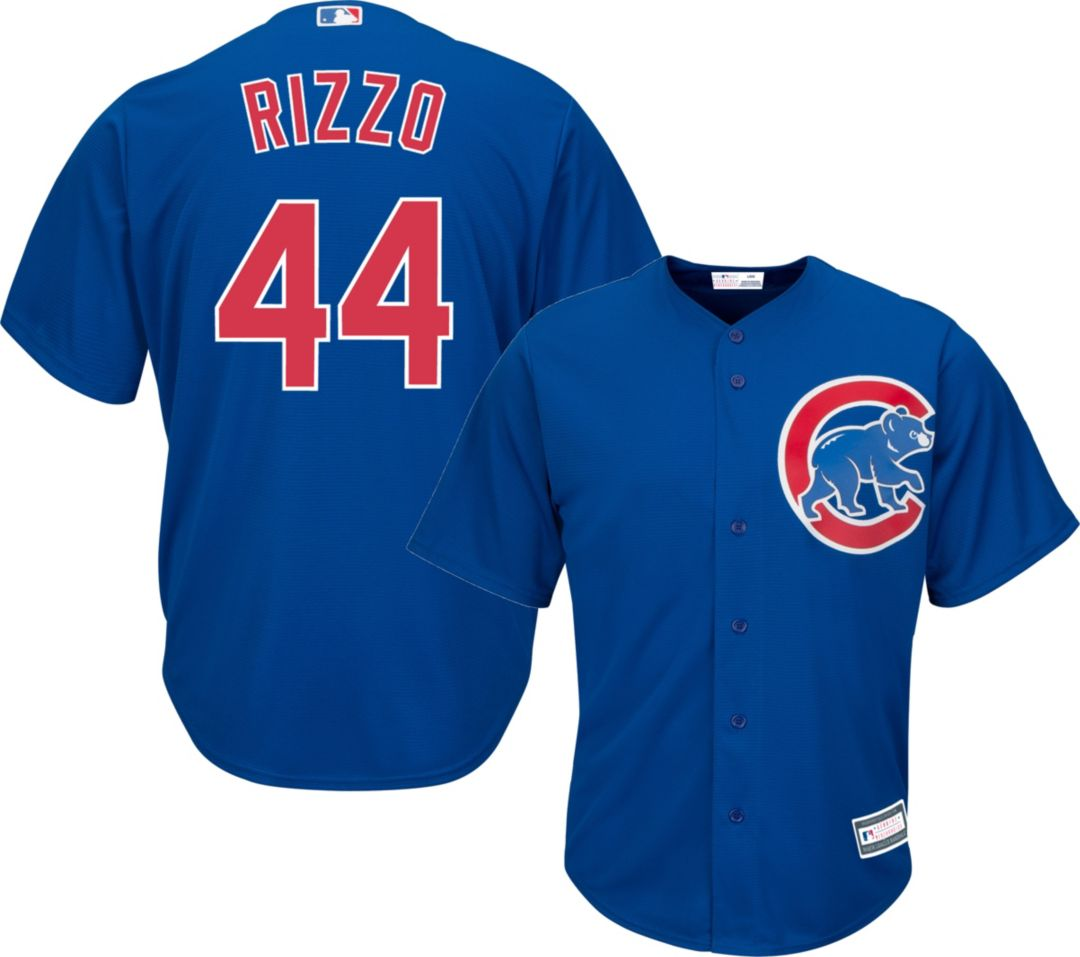 sale retailer 0e5c9 eff83 Youth Replica Chicago Cubs Anthony Rizzo #44 Alternate Royal Jersey