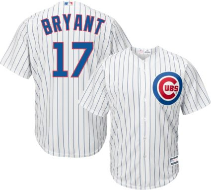 0222dd421 Youth Replica Chicago Cubs Kris Bryant  17 Home White Jersey. noImageFound