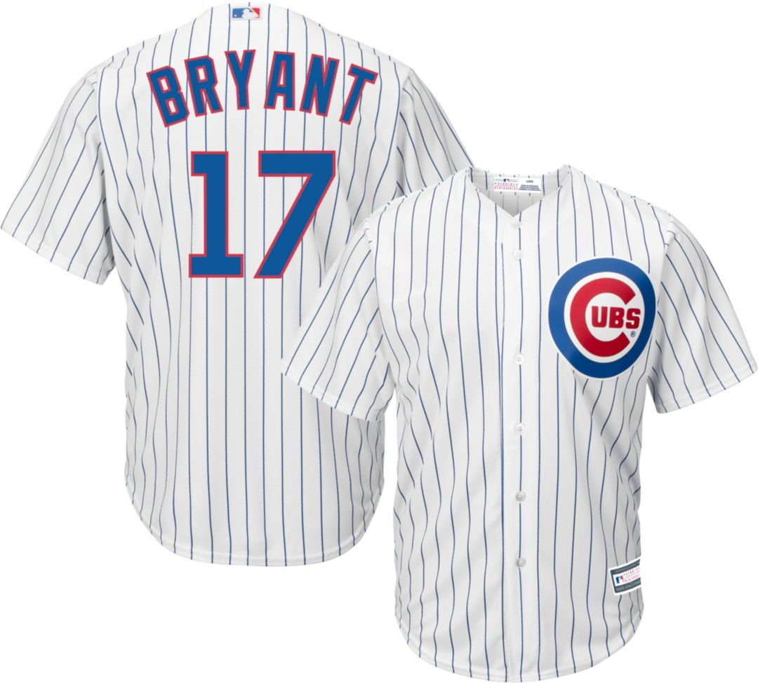 071d7cab015 Youth Replica Chicago Cubs Kris Bryant #17 Home White Jersey ...