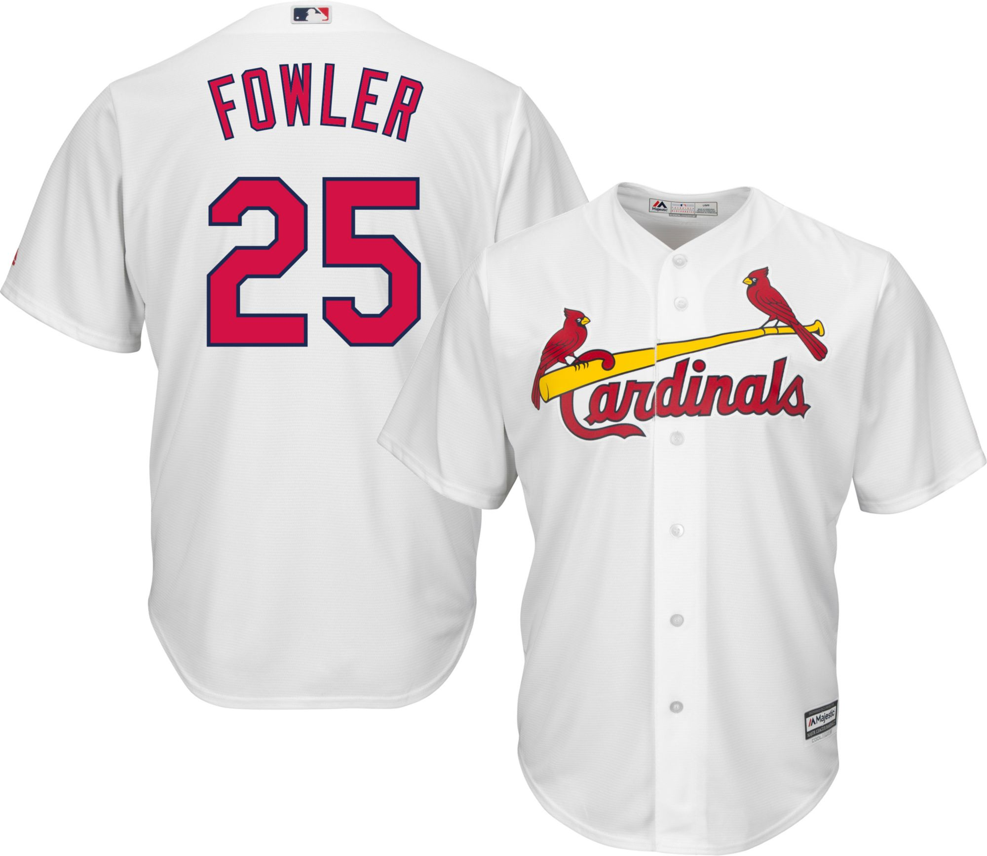 4c30ec2bc ... cheap majestic youth replica st. louis cardinals dexter fowler 25 cool  base home white jersey