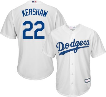 a89baab56938 Youth Replica Los Angeles Dodgers Clayton Kershaw #22 Home White Jersey