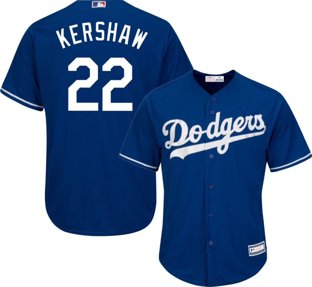 size 40 07125 91441 Youth Replica Los Angeles Dodgers Clayton Kershaw #22 Alternate Royal Jersey