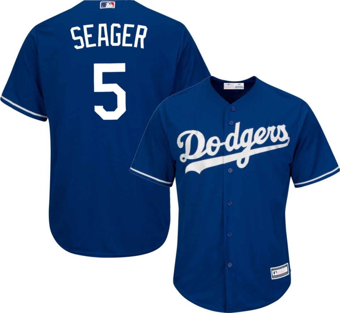 best loved b27cd 1f64b Youth Replica Los Angeles Dodgers Corey Seager #5 Alternate Royal Jersey