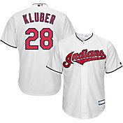 Youth Replica Cleveland Indians Corey Kluber #28 Home White Jersey