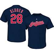 Majestic Youth Cleveland Indians Corey Kluber #28 Navy T-Shirt