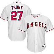 Youth Replica Los Angeles Angels Mike Trout #27 Home White Jersey