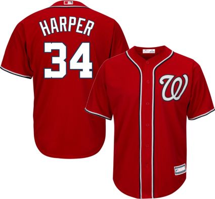 Youth Replica Washington Nationals Bryce Harper  34 Alternate Red Jersey.  noImageFound 4bc478a10
