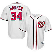 Youth Replica Washington Nationals Bryce Harper #34 Home White Jersey