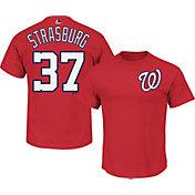 Majestic Youth Washington Nationals Stephen Strasburg #37 Red T-Shirt