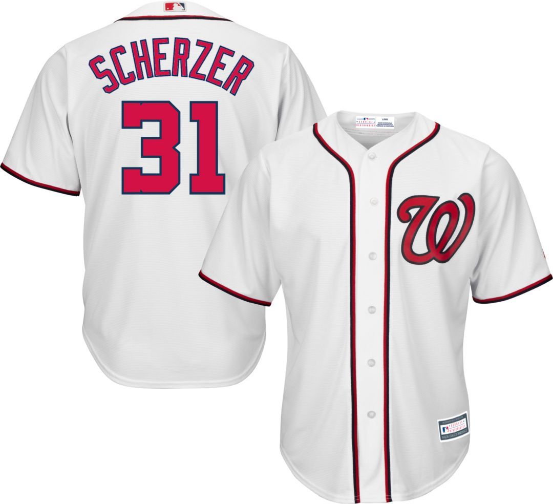 detailed look 05094 c4959 Youth Replica Washington Nationals Max Scherzer #31 Home White Jersey