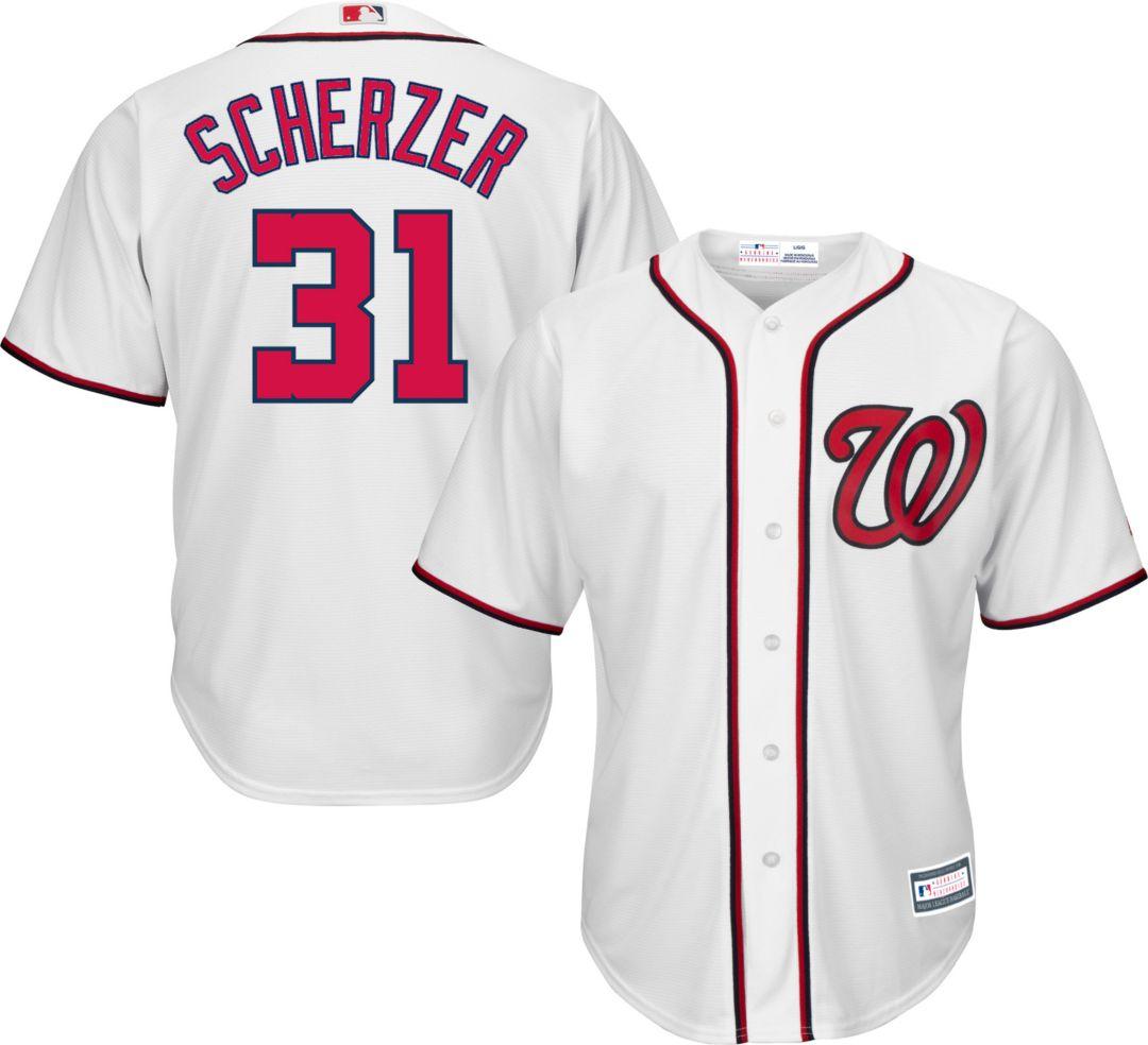 detailed look 5120e c8980 Youth Replica Washington Nationals Max Scherzer #31 Home White Jersey