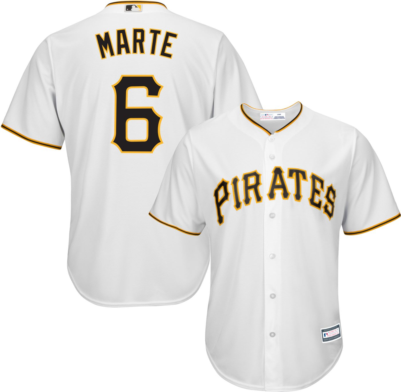 Youth Replica Pittsburgh Pirates Starling Marte #6 Home White Jersey