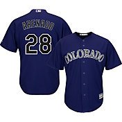 Majestic Youth Replica Colorado Rockies Nolan Arenado #28 Cool Base Alternate Purple Jersey