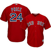 Majestic Youth Replica Boston Red Sox David Price #24 Cool Base Alternate Red Jersey