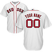 Majestic Youth Custom Cool Base Replica Boston Red Sox Home White Jersey