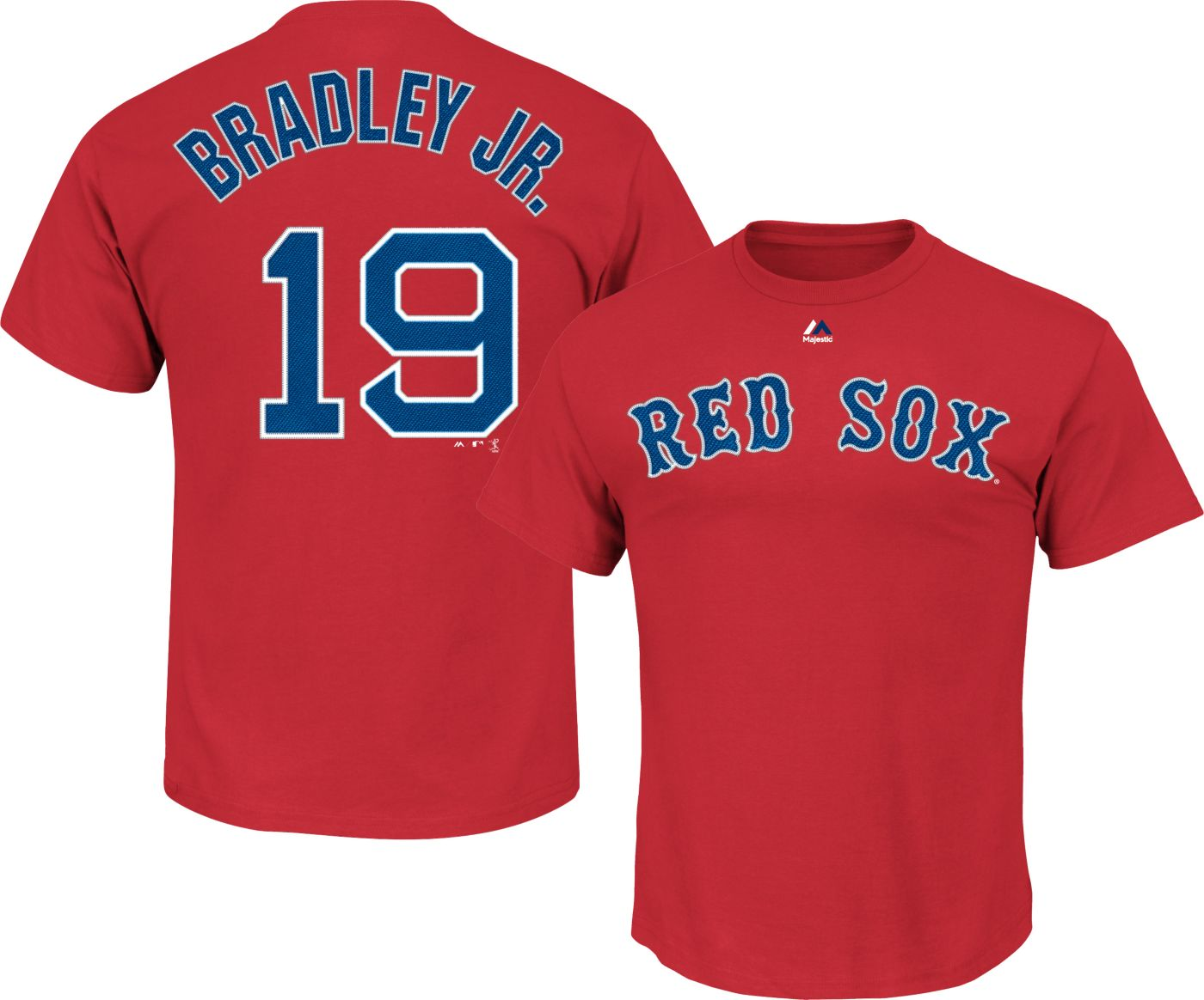Majestic Youth Boston Red Sox Jackie Bradley Jr. #19 Red T-Shirt