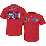 Majestic Youth Boston Red Sox Mookie Betts #50 Red T-Shirt