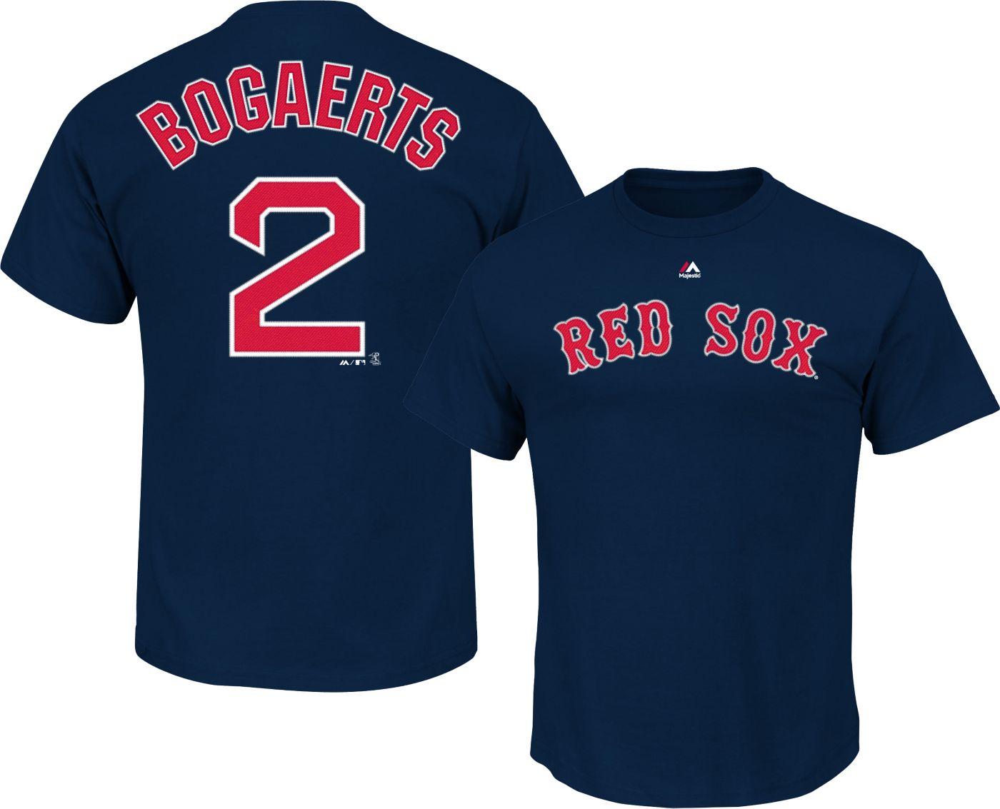 Majestic Youth Boston Red Sox Xander Bogaerts #2 Navy T-Shirt