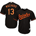 Majestic Youth Replica Baltimore Orioles Manny Machado #13 Cool Base Alternate Black Jersey