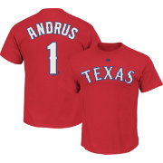 Majestic Youth Texas Rangers Elvis Andrus #1 Red T-Shirt