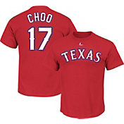 Majestic Youth Texas Rangers Shin-Soo Choo #17 Red T-Shirt