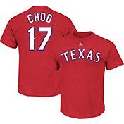 Majestic Youth Texas Rangers Shin-Soo Choo #17 Red T-Shirt