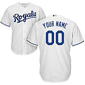 Majestic Youth Custom Cool Base Replica Kansas City Royals Home White Jersey