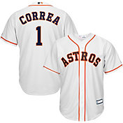 Youth Replica Houston Astros Carlos Correa #1 Home White Jersey