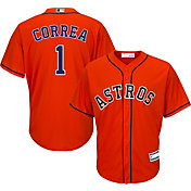 Youth Replica Houston Astros Carlos Correa #1 Alternate Orange Jersey