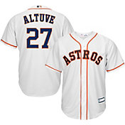 Youth Replica Houston Astros Jose Altuve #27 Home White Jersey