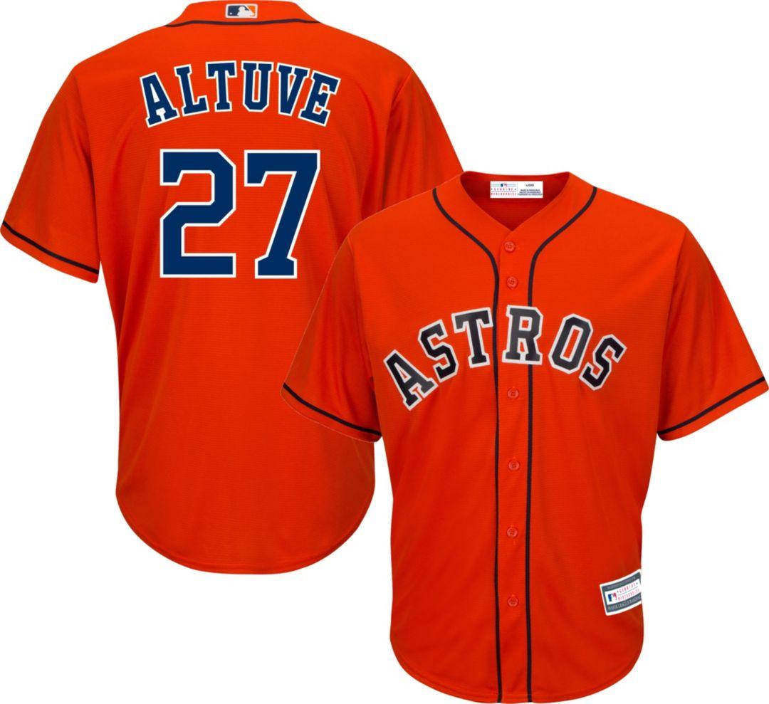sale retailer 6de8c 209a5 Youth Replica Houston Astros Jose Altuve #27 Alternate Orange Jersey