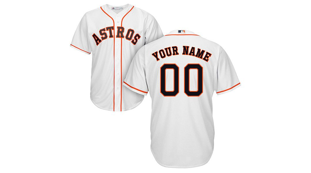 half off 768c7 7eb76 Majestic Youth Custom Cool Base Replica Houston Astros Home White Jersey