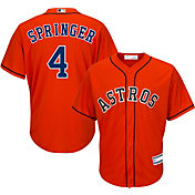 Youth Replica Houston Astros George Springer #4 Alternate Orange Jersey